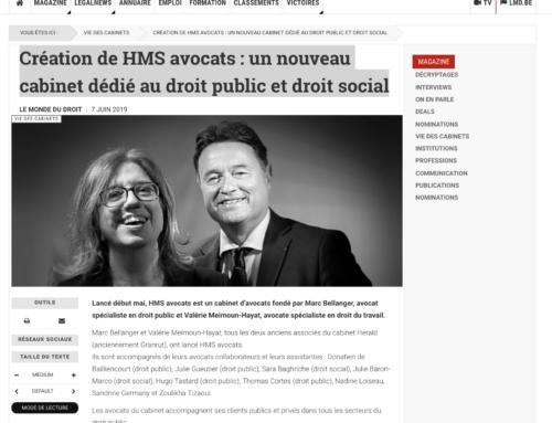 Création de HMS avocats : un nouveau cabinet dédié au droit public et droit social